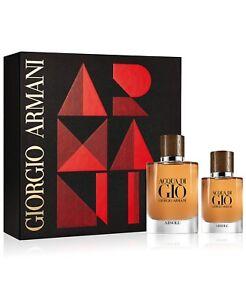 Acqua Di Gio Absolu 2.5 oz / 75 ml Parfum and 1.oz parfum Travel Gift Set