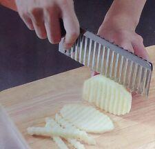Stainless Steel Potato Chip Dough Vegetable Crinkle Wavy Cutter Blade Slicer LH