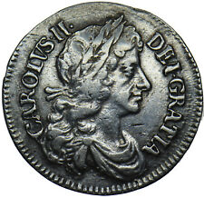 More details for 1679 maundy fourpence - charles ii british silver coin - nice