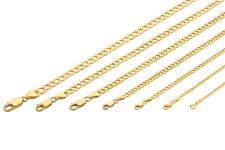 "10K Yellow Gold 2Mm-7Mm Curb Cuban Chain Link Pendant Necklace Bracelet, 7""-30"""