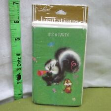 SKUNK & CHIPMUNK vtg party invitations Laurel set of 10 American Greeting 1970s