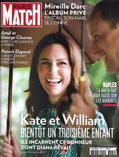PARIS MATCH N°3564 7 SEPTEMBRE 2017  KATE & WILLIAM/ MIREILLE DARC/ HOUSTON SOUS