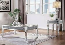 NEW Crushed Crystal Rectangle Coffee Table, Stunning Silver Sparkling Diamonds