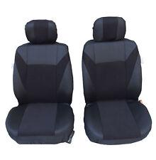 2 vordere Sitzbezüge Schonbezüge Schwarz Polyester für Ford Honda Nissan Mazda