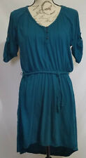 "Route 66 Clothing Co. Women""s Boho Belted Dress Dark Green Size L"