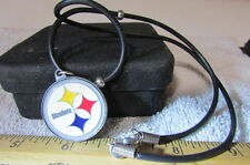 Pittsburg Steelers Medallion With 10 Inch Wire Style Neckless