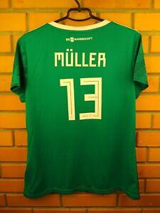 Muller Germany Women Jersey 2018 2019 Away XL Shirt BR3149 Football Adidas