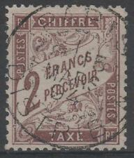 """FRANCE STAMP TIMBRE TAXE N° 26 """" TYPE DUVAL 2F MARRON """" OBLITERE TTB N327"""