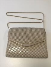 Vintage Cream Ivory Glo Mesh Purse Bag w/ Detachable Strap Tile Handbag