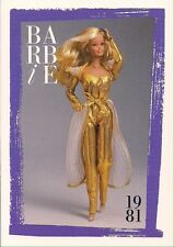 Barbie Fashion Collectable Card - Card No. 133: 1981 - Golden Dream Barbie