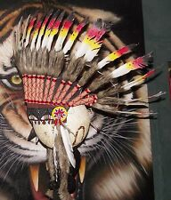 #735 Quality Native American Indian Chief Feather war bonnet Headdress 1 size