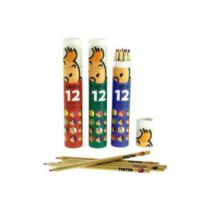 Tim und Struppi : Stiftebox grün, rot oder blau: 12 Farbstifte, Buntstifte, neu