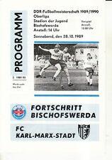OL 89/90 Fortschritt Bischofswerda - FC Karl-Marx-Stadt, 28.10.1989