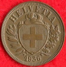 SWITZERLAND - 2 RAPPEN - 1936