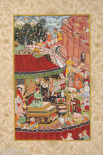 Mugal Court Emperor Akbar India Muslim Islamic art Precious Art Ethnic Akbarnama