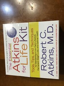 The essential Atkins for life kit includes menus recipes, card counter & CD new