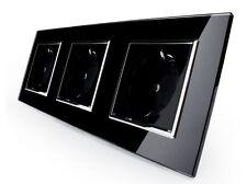Steckdose Glas Schwarz 3 Fach mit Kindersicherung VLC7C1EU/C1EU/C1EU-12 LIVOLO