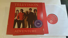 1978 Punk LP Promo Television Adventure Original W/ Lyric Tom Verlaine Nyc Raro