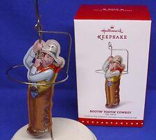 Hallmark Series Ornament Pressed Tin Toys #2 2015 Rootin Tootin Cowboy w/ Lasso
