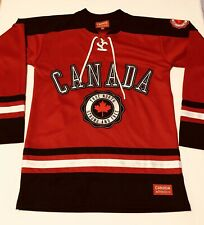 Canada Athletics Canada Hockey Team Jersey Black Red Embroidered Jersey SZ S