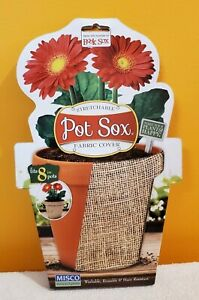 """Book Sox Stretchable Fabric Pot Covers ( You Choose size & color ) 4, 6, 8 & 10"""""""