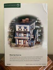 "Dept. 56 New England Village ""Whale Tale Pub & Inn� New!"