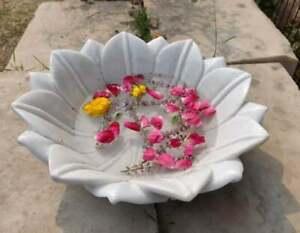 Lotus Fruit Hand Carved Decorative Handmade Bowl Uruli For Home Table Decor