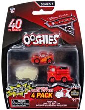 Cars 3 Ooshies Series 1 Translucent McQueen, Glow Apb & Red Pencil Topper 4-Pack