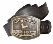 John Deere Leather Belt