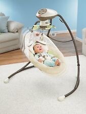 Baby Swinging Crib Cradle Seat Soothing Comfort Smart Motion 6 speed Technology