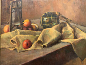 Nautical Still Life signed Foster Caddell, Circa 1950's Oil On Canvas.