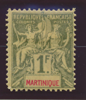 Martinique Stamp Scott #51, Mint Heavily Hinged, Hinge Remnant