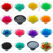 2500 Water Aqua Soil Crystal Bio Gel Balls Beads Decoration Vase Filler UK