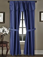 SOLID BLACKOUT WINDOW CURTAINS DRAPE TREATMENT WITH VALANCE HEAVY THICK K42