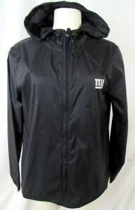 New York Giants Womens M Screened Full Zip Hooded Windbreaker Jacket AGIA 184