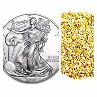 Ounce Gold American Eagle 5 Five Original US Mint Capsules * 1//4 oz