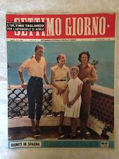 RIVISTA SETTIMO GIORNO 17 4/1953 PRINCIPI SAVOIA SORELLE BUCCI PERON DE SICA