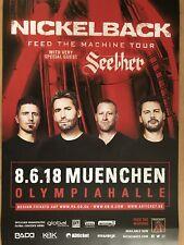 NICKELBACK II - 2018 MÜNCHEN - orig.Concert Poster - Konzert Plakat  A1 NEU