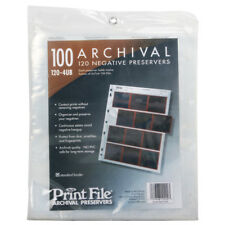 100x Print File 6x7 120 Format Film Negatives Pages Sleeves Archival Preservers