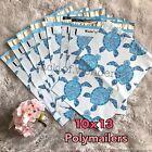 20 Designer Printed Poly Mailers 10X13 Shipping Envelopes Bags Aqua Sea Turtle