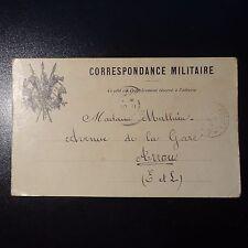 FRANCE LETTRE COVER CORRESPONDANCE MILITAIRE CAD TRÉSOR ET POSTES 1914 PR ARROU