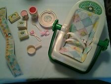 LOT OF VINTAGE CABBAGE  PATCH  1983 DOLL ACCESSORIES CPK CARRIER  CAR SEAT