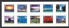 Guernesey 2001 Island Scènes Feuillet de 10 Adhésif Non montés excellent état