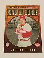 2009 Topps Baseball Ring of Honor RH6 - Johnny Bench - Cincinnati Reds