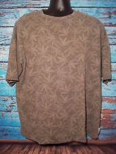 Mens ZEGNA SPORT Crewneck Short Sleeve Shirt SIze Floral Large