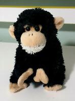 Wild Republic Black Monkey Soft Plush Children's Toy 14cm Tall Beans in Bum!