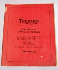 TRIUMPH REPLACEMENT PARTS CATALOG 1969 TROPHY 250 TR25W FACTORY MANUAL TR 25 W