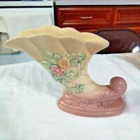 Vintage Hull Art Pottery Wildflower Cornucopia Vase