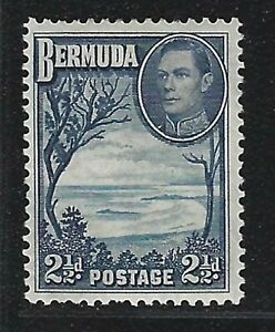 1938 Bermuda Scott #120 (SG #113) - 2½d KGVI Grape Bay, Paget Parish Stamp - MH