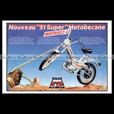 #phpb.001360 Photo MOTOBECANE 51 SUPER 1979 CYCLO MOB MOPED A4 Advert Reprint